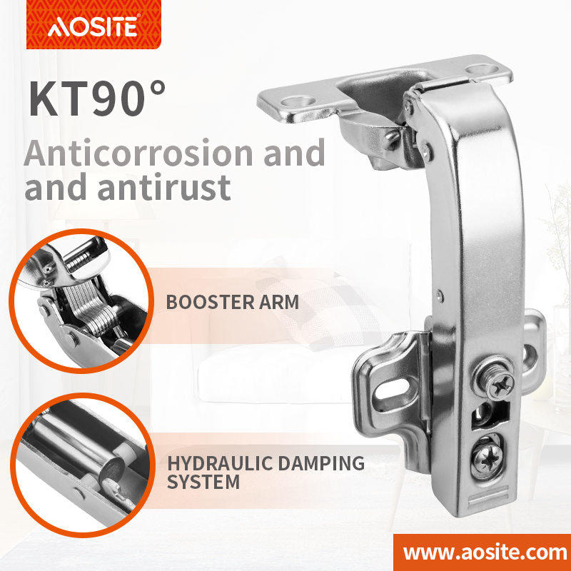 KT-90° Clip-on Special-angel Hydraulic Damping Hinge kitchen cabinet hinges types